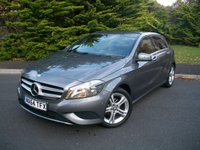 USED 2014 64 MERCEDES-BENZ A CLASS 1.5 A180 CDI BLUEEFFICIENCY SPORT 5d AUTO 109 BHP Beautiful Example Throughout, High Specification, JUST Two Owners From New, ONLY 28,000 Miles with Full Mercedes Dealership Service History!!!