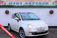 USED 2009 59 FIAT 500C 1.4  LOUNGE 3d 99 BHP CONVERTIBLE, ONE OWNER, FULL DEALER HISTORY
