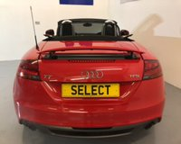 """USED 2011 11 AUDI TT 2.0 TFSI S LINE 2d 211 BHP SAVE £1000 -WAS £10999 NOW £9999  Huge Saving in our Black Tag Summer SALE -Stunning looking LOW MILEAGE -ONLY 48,000 Miles -S-Line Cabriolet in burning red with black half leather/alcantara-awesome performance with 208 bhp-over 150 mph top speed and still capable of over 50 MPG ! Big spec with 18""""10 Spoke alloys,Bi-Xenon headlamp sand full electric roof"""