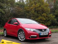 USED 2012 12 HONDA CIVIC 1.8 I-VTEC EX GT 5d AUTO 140 BHP FULL SCREEN SATELLITE NAVIGATION, HEATED LEATHER