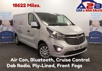 USED 2015 65 VAUXHALL VIVARO 1.6 2700 CDTI SPORTIVE 120 BHP Low Mileage 18761 Miles, Air Con, Bluetooth, Dab Radio, Cruise Control, Stop/Start, Front Fogs **Drive Away Today** Over The Phone Low Rate Finance Available, Just Call us on 01709 866668**