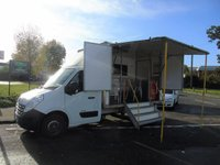 USED 2012 12 RENAULT MASTER 2.3DCI ML35 125 BHP EXHIBITION DISPLAY MOBILE OFFICE UNIT +OVERNIGHT HEATER+TV+STEPS+