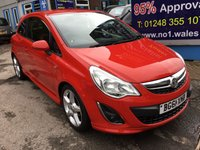 USED 2011 61 VAUXHALL CORSA 1.4 SRI 3d 98 BHP, ONLY 45000 MILES **