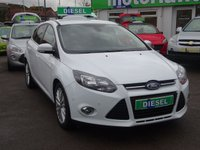 USED 2013 13 FORD FOCUS 1.6 ZETEC TDCI 5d 113 BHP 2 OWNERS FROM NEW...FULL SERVICE HISTORY....£20 A YEAR ROAD TAX....CALL TODAY ON 01543 877320