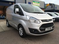 2014 FORD TRANSIT CUSTOM 2.2 290 LIMITED LR P/V 1d 124 BHP £10250.00