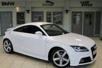 USED 2011 11 AUDI TT 2.0 TFSI S LINE 2d 211 BHP HALF BLACK LEATHER SEATS + EXCELLENT AUDI SERVICE HISTORY + XENON HEADLIGHTS + 18 INCH ALLOYS + LED DAYTIME LIGHTS + AUTOMATIC AIR CONDITIONING