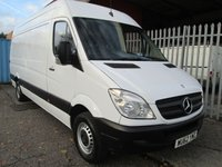 2012 MERCEDES-BENZ SPRINTER 313 CDi LWB High roof 4 metre load length *ONLY 76000 MILES* £9995.00