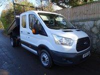 2015 FORD TRANSIT 2.2 350 L3 DCB C/C DRW 1d 124 BHP DOUBLE CAB TIPPER £14495.00