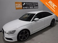 USED 2013 63 AUDI A6 2.0 TDI S LINE BLACK EDITION 4d AUTO 175 BHP BEAUTIFUL CAR FINISHED IN GLEAMING ALPINE WHITE. ONE OWNER FROM NEW WITH FULL AUDI HISTORY, THIS CAR HAS BEEN SERVICED REGARDLESS OF COST WITH SOME NICE SPECIFICATIONS, INC SAT NAV, FULL HEATED  LEATHER DRL HEADLAMPS,,DUAL CLIMATE CONTROL, ELEC HEATED MIRRORS, TWIN BAR 18INCH UPGRADED ALLOYS, FLAT BOTTOM,MULTI FUNCTION LEATHER CLAD STEERING WHEEL, AUDI MULTI MEDIA SYSTEMS WITH USB AND AUX POINTS. BLUE TOOTH PHONE PREP
