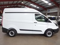 "USED 2014 14 FORD TRANSIT CUSTOM 2.2 270  ECO-TECH  P/V SWB HIGH ROOF-LOW MILEAGE-ONE OWNER-SERVICE HISTORY  ""YOU'RE IN SAFE HANDS"" - AA DEALER PROMISE"