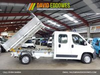 """USED 2015 15 PEUGEOT BOXER 2.2 HDI 335 L3 C/C LWB 130 BHP DOUBLE CAB / CREW CAB TIPPER - VERY LOW MILEAGE - """"YOU'RE IN SAFE HANDS"""" - AA DEALER PROMISE"""