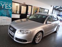 """USED 2007 07 AUDI A4 3.0 TDI QUATTRO DPF S LINE 5d AUTO 229 BHP This A4 Avant is finished in lichtsilber (light Silver metallic) with Black Leather heated electric seats. It is fitted with power steering, remote locking, electric windows,  power folding mirrors and electric memory front seats, dual zone climate control, cruise control,  Audi MMi Sat Nav, Bluetooth phone 18"""" alloy wheels, grooved brake discs and more. It has had three owners from new and been in the last keepers possession since 2016."""