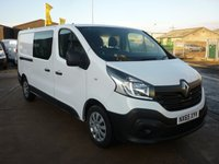 2015 RENAULT TRAFIC 1.6 LL29 BUSINESS DCI L2 H1 DOUBLE CAB 115 BHP 6 seater aircon bluetooth navigation and more £12495.00