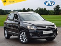 USED 2015 65 VOLKSWAGEN TIGUAN 2.0 MATCH TDI BLUEMOTION TECH 4MOTION DSG 5d AUTO 148 BHP 1 lady owner from new for this Vw Tiguan 2.0tdi Match 4x4 AUTOMATIC in black with just 25000 miles. 2 main dealer Vw service stamps and 2 keys, plus includes an independent AA inspection report.