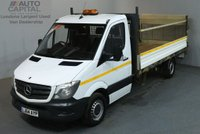 USED 2014 64 MERCEDES-BENZ SPRINTER 2.1 313 CDI 129 BHP LWB RWD DROPSIDE LORRY REAR BED LENGTH 14 FOOT