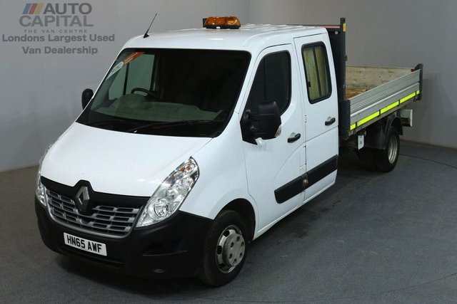 2015 65 RENAULT MASTER 2.3 LL35 BUSINESS DCI LWB 125 BHP D/CAB TWIN WHEEL TIPPER