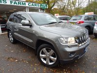 USED 2012 62 JEEP GRAND CHEROKEE 3.0 V6 CRD OVERLAND 5d AUTOMATIC 4x4 237 BHP FOUR WHEEL DRIVE Comprehensive Jeep Service History + Serviced by ourselves, Two Previous Owner, Minimum 6 months MOT, Automatic, Four Wheel Drive