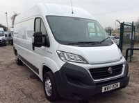 USED 2017 17 FIAT DUCATO LWB L3 H2 2.0 35 H/R MULTIJET II 115 BHP 1 OWNER FSH MANUFACTURER'S WARRANTY ELECTRIC WINDOWS AND MIRRORS 6 SPEED BLUETOOTH EURO 6