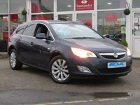 USED 2012 12 VAUXHALL ASTRA 2.0 SE CDTI S/S 5d 163 BHP STUNNING, VAUXHALL ASTRA SE 2.0 CDTI ESTATE. Finished in WATERWORLD PEARL METALIC with Contrasting Part Leather interior. This Astra estate is a great all rounder, its comfortable, well built, practical and good fun to drive. Its well designed interior makes it a car not to be missed. Features include, Cruise Control, Alloys, Part Leather and much more.