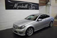 USED 2012 62 MERCEDES-BENZ C CLASS 2.1 C220 CDI BLUEEFFICIENCY AMG SPORT 2d 170 BHP SERVICE HISTORY - AMG SPORT - HALF LEATHER - SAT NAV