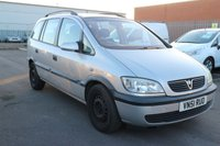 USED 2002 51 VAUXHALL ZAFIRA 2.0 COMFORT DTI 16V 5d 100 BHP *PX CLEARANCE - NOT INSPECTED - NO WARRANTY - NOT AVAILABLE ON FINANCE - NO PX TAKEN*