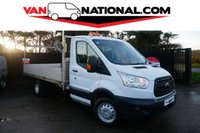 2016 FORD TRANSIT 2.2 350 C/C DROPSIDE125 BHP (TWIN WHEELER ONE OWNER) £12790.00