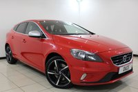 USED 2015 15 VOLVO V40 2.0 D4 R-DESIGN 5DR 187 BHP Full Service History FULL VOLVO SERVICE HISTORY + HEATED LEATHER SEATS + BLUETOOTH + PARKING SENSOR + CRUISE CONTROL + CLIMATE CONTROL + MULTI FUNCTION WHEEL + DAB RADIO + 18 INCH ALLOY WHEELS
