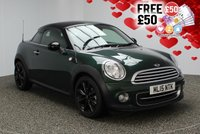 USED 2015 15 MINI COUPE 1.6 COOPER 2DR CHILI PACK 120 BHP FULL SERVICE HISTORY MINI SERVICE HISTORY + 0% FINANCE AVAILABLE T&C'S APPLY + HALF LEATHER SEATS + PARKING SENSOR + BLUETOOTH + CRUISE CONTROL + CLIMATE CONTROL + MULTI FUNCTION WHEEL + DAB RADIO + 17 INCH ALLOY WHEELS