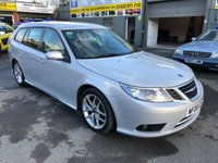 2008 SAAB 9-3 2.0 VECTOR SPORT T 5 DOOR ESTATE AUTOMATIC 150 BHP IN SILVER WITH 90000 MILES. £3399.00