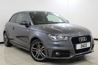 USED 2013 13 AUDI A1 1.6 TDI S LINE 3DR 105 BHP SERVICE HISTORY + HALF LEATHER SEATS + BLUETOOTH + MULTI FUNCTION WHEEL + AIR CONDITIONING + ELECTRIC WINDOWS + 17 INCH ALLOY WHEELS