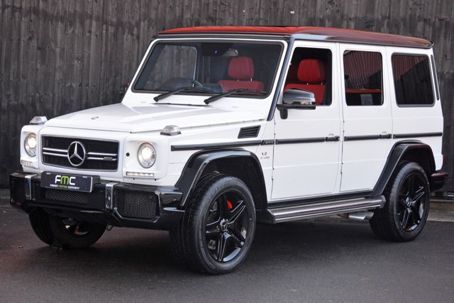2016 66 MERCEDES-BENZ G-CLASS 5.5 G63 AMG 463 Edition 5d AUTO 544 BHP *Only White G63 For Sale in UK - Footballer Owner *