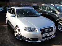 USED 2007 07 AUDI A3 2.0 TDI S LINE 5d AUTO 138 BHP ANY PART EXCHANGE WELCOME, COUNTRY WIDE DELIVERY ARRANGED, HUGE SPEC