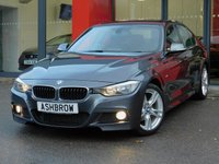 USED 2013 62 BMW 3 SERIES 2.0 318D M SPORT 4d 143 S/S FULL BLACK LEATHER INTERIOR, FRONT FOG LIGHTS, REPEATERS IN MIRRORS, 18 INCH TWIN 5 SPOKE ALLOY WHEELS, FULL M SPORT BODY KIT, REAR PARKING SENSORS WITH DISPLAY, SPORT SEATS, LIGHT & RAIN SENSORS WITH AUTO DIMMING REAR VIEW MIRROR, CRUISE CONTROL, LEATHER MULTIFUNCTION STEERING WHEEL, KEYLESS START, FRONT & REAR ARM RESTS, AUX & USB INPUTS, CD HIFI, DUAL CLIMATE AIR CON, BLUETOOTH, 2 OWNERS FROM NEW, FULL SERVICE HISTORY, £30 ROAD TAX