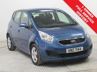 USED 2014 64 KIA VENGA 1.4 CRDI 2 5d 89 BHP 1 Owner, Full KIA Service History,  this stunning KIA Venga in lovely Blue Crystal represents fantastic value for money with the remainder of KIA's 7 Year warranty up to October 2021. This car was first registered on the 31st October 2014 and comes with Parking Sensors, Bluetooth, Air Conditioning, USB/AUX, Alloys, 2 Keys, an MOT until November 2019 and Road Fund Licence is only £30 a year.  Nationwide Delivery Available. Finance Available at 9.9% APR Representative.