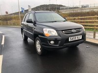 USED 2009 59 KIA SPORTAGE 2.0 XS CRDI 5d 138 BHP 2 PREVIOUS KEEPERS +  FULL LEATHER TRIM +   SERVICE RECORD +  MEDIA CONNECTIVITY +