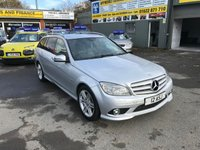 2009 MERCEDES-BENZ C CLASS 2.1 C250 CDI BLUEEFFICIENCY SPORT 5 DOOR ESTATE AUTOMATIC 204 BHP WITH SAT NAV AND FULL LEATHER INTERIOR. £6499.00