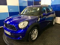 "USED 2015 65 MINI COUNTRYMAN 1.6 COOPER D BUSINESS 5d 110 BHP A stunning example of this family favorite finished in unmarked metalic blue paintwork with contrasting 17"" silver alloys ,this car comes with 5 year service plan ,it looks and drives superbly, Its equipped with half leather trim ,satelite navigation,bluetooth phone prep,climate control,dab cd radio with usb and aux.plus all the usual refinements,however when it was virtualy new did get very very minor damage when reported stolen and has been recorded as cat d vehicle,been in daily use since ."