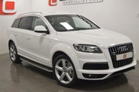 USED 2011 61 AUDI Q7 3.0 TDI QUATTRO S LINE 5d AUTO [7 SEATS] 245 BHP LOW MILES + FULL HISTORY + SAT NAV + 7 SEATS + FULL LEATHER