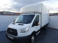 USED 2015 65 FORD TRANSIT 2.2 350 C/C DRW 1d 124 BHP FORD TRANSIT LUTON L4 TAIL LIFT LOW MILES