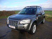 USED 2008 08 LAND ROVER FREELANDER 2.2 TD4 HSE 5d AUTO 159 BHP freelander 2, 2.2td4, HSE, auto in stornoway grey with black leather interior.