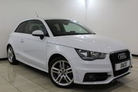USED 2012 51 AUDI A1 1.6 TDI S LINE 3DR 103 BHP Full Service History FULL SERVICE HISTORY + HALF LEATHER SEATS + BLUETOOTH + PARKING SENSOR + MULTI FUNCTION WHEEL + AIR CONDITIONING + ELECTRIC WINDOWS + 17 INCH ALLOY WHEELS
