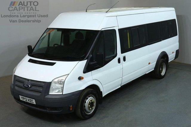 2012 12 FORD TRANSIT 2.2 430 17 STR 134 BHP TWIN WHEEL EXTRA LWB M/ROOF MINIBUS