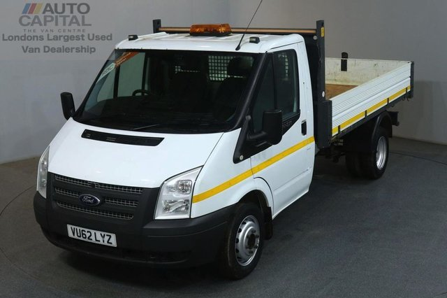 2012 62 FORD TRANSIT 2.2 350 100 BHP S/CAB MWB TWIN WHEEL TIPPER REAR BED LENGTH 10 FOOT & 6 IN