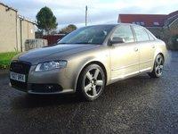 2007 AUDI A4 1.9 TDI S LINE TDV 4d 116 BHP £2650.00