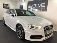 USED 2015 65 AUDI A3 2.0 S3 QUATTRO 3d 296 BHP LOW MILES! FSH! NEW MOT! MUST SEE EXAMPLE!