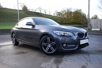 USED 2014 64 BMW 2 SERIES 2.0 218D SPORT 2d 141 BHP automatic NAVIGATION - HEATED LEATHER