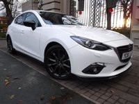 USED 2016 16 MAZDA 3 2.0 SPORT BLACK 5d 118 BHP *** FINANCE & PART EXCHANGE WELCOME *** 1 OWNER FROM NEW £ 30 ROAD TAX SAT/NAV REVERSE CAMERA BLUETOOTH PHONE HALF LEATHER HEATED SEATS