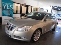 """USED 2012 62 VAUXHALL INSIGNIA 2.0 SE NAV CDTI 5d AUTO 157 BHP This 39000 miles Insignia SE Navigation Diesel Automatic is finished in Panacotta Pearl silver with Black half leather & cloth seats. It is fitted with power steering, remote locking, electric windows, mirrors and partial drivers seat, climate control, cruise control, DAB Colour screen Satellite Navigation, 19"""" alloy wheels rear park assist and more.  It has been owned by a local family and comes with a full service history consisting of 4 Vauxhall stamps and one by ourselves."""