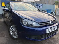 USED 2011 11 VOLKSWAGEN GOLF 1.6 MATCH TDI DSG 5d AUTO 103 BHP FULL VW SERVICE HISTORY AND ONLY ONE OWNER FROM NEW