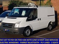 2011 FORD TRANSIT 260 SWB LOW ROOF WITH HISTORY. NO VAT TO PAY £4695.00